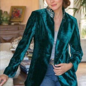 Soft Surroundings Starlet Velvet Jacket